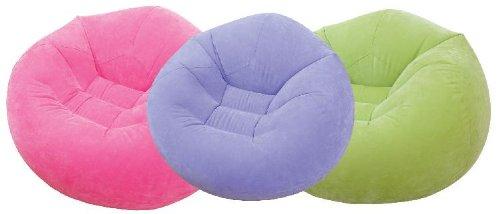 Beanbag aufblasbarer Sitzsack Beanless Bag für Garten Haus in lila