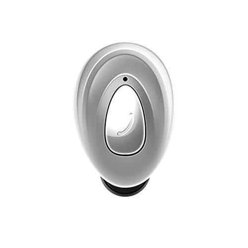Single Ear Bluetooth Headset, Sports Wireless Bluetooth Earbuds, Unilateral Handsfree, Bluetooth V4.1 + EDR, Anti-Sweat Waterproof,Silver