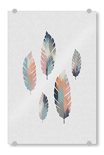 ild 90x60 cm Natur Brushed Leaves - Bild Childrens Wall Art Nursery Decor Nursery Prints ()