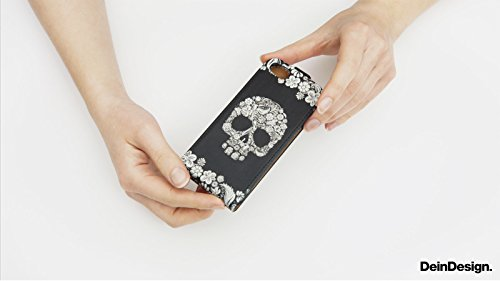 Apple iPhone 5 Housse Étui Silicone Coque Protection Camouflage Motif Motif Sac Downflip noir