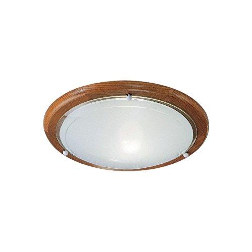 Eglo 3891 E27 Madera iluminación de techo - Lámpara (Dormitorio, Cocina, Salón, Madera, IP20, Cepillado, Blanco, Alrededor)