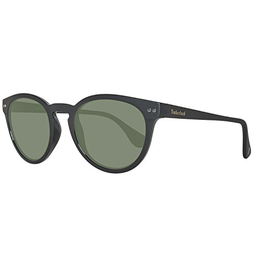 Timberland tb9085-5205r, occhiali da sole uomo, nero (black/green polarized), 52