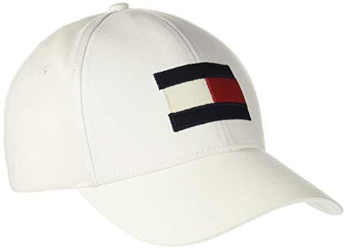 Tommy Hilfiger Big Flag Cap Gorra de béisbol, Blanco (Bright White 104), única (Talla del Fabricante: OS) para Hombre