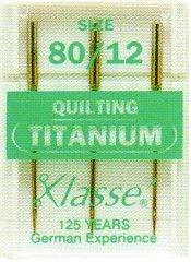Hemline-H106.T titanio/m, alta resistenza, lavabile in lavatrice, dimensioni: 3 x 80, confezione da (Titanio Macchina Da Cucire Aghi)
