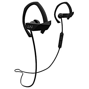 Leaf Sport Wireless Bluetooth Earphone with Mic and Sports Earhook, Bluetooth Headset with 6 Hours Battery Life(Black)