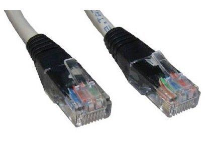 30m Crossover-Kabel mit schwarzen Stiefeln - Premium-Qualität / geschirmte (FTP) / RJ45 / network / Ethernet / cat5e / patch / Peer to Peer / console auf Konsole oder PC -