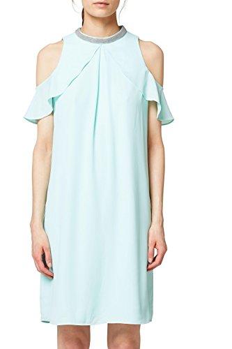 ESPRIT Collection Damen Kleid 058EO1E025, Grün (Light Aqua Green 390), 36