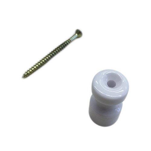 Keramik-isolator (Isolator Keramik 16mm H 25mm Schraube inklusive–ideal für Zopf Kabel A Vista)