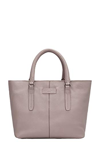 Liebeskind Berlin Damen Essential Satchel Medium Henkeltasche Grau (String Grey) 11x25x27 cm -