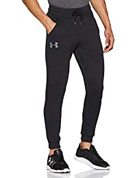 Under Armour Rival Fitted Tapered Jogger Pantalón Largo, Hombre, Negro (001), M