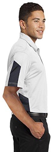 Sport-Tek Herren Button-down Poloshirt Forest Green/ Grey