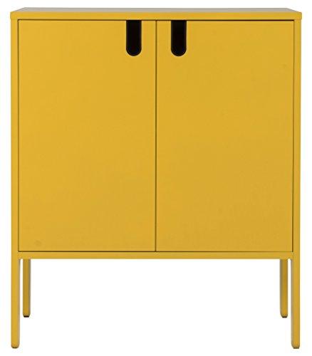 TENZO 8552-029 UNO Designer Schrank 2 Türen, MDF/Spanplatte, Mustard, 76 x 40 x 89 cm