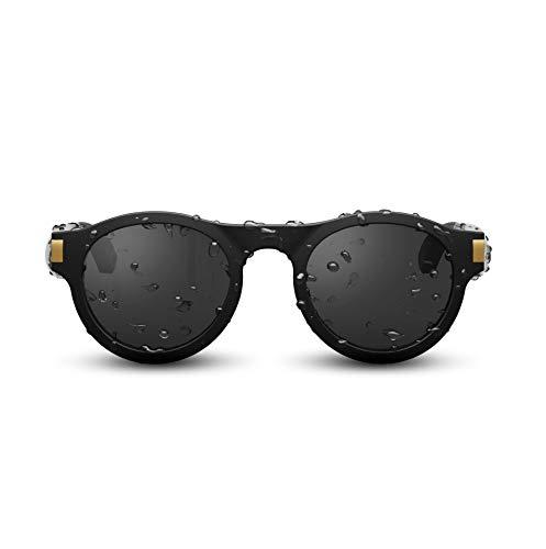HighLife+ FIVEBOY 2019 Open-Orientation Audio-Sonnenbrille Bluetooth5.0 Sonnenbrille zum Musikhören und Telefonieren Polarisierte Orientierungsbrille für Männer und Frauen (Schwarz, Stereo)