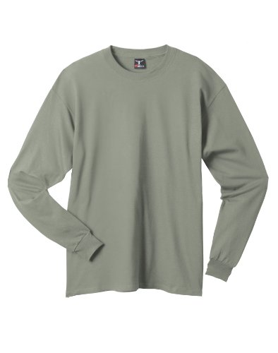 hanes-t-shirt-a-manches-longues-homme-multicolore-stonewashed-green-l