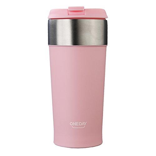 400ml Isolierter Becher von Baban Thermosbecher Pinke Kaffeetasse Thermosflaschen Isolierflaschen...