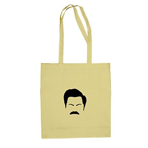 Mr. Moustache - Stofftasche / Beutel Natur