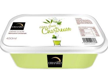 ERHARD GLACES - Crème glacée à la Chartreuse - 252 g - Surgelé