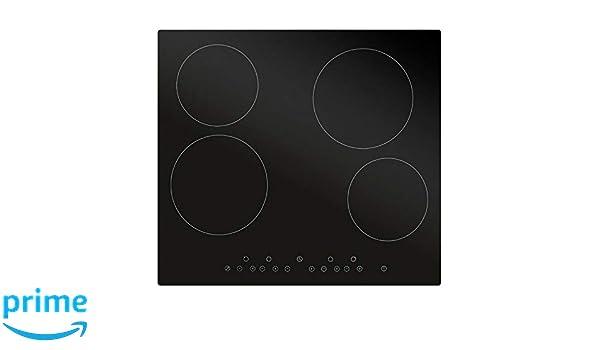 Black Prodex PXEC60DC Ceramic Hob with Dial Controls 60cm Wide 4 Zone