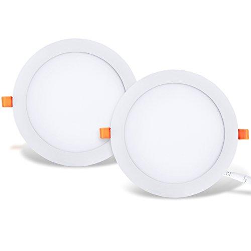 LVWIT 2x Placa circular LED de Techo - 25W equivalente a 150W,...