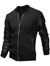 Magiyard Veste Automne Hiver Slim Collar Casual Vestes De Mode Hommes f7d577f8be4