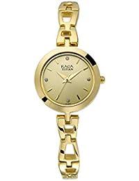 Titan Analog Beige Dial Women's Watch-2540YM06