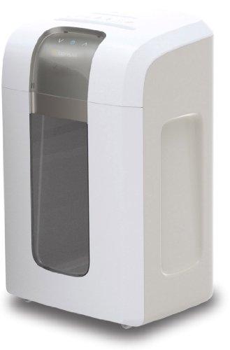 Bonsaii 5S30 Aktenvernichter, bis zu 5 Blatt Papier, Super-Mikroschnitt (Sicherheitsstufe P-6), mit CD - Shredder, 4 Stunden Dauerbetrieb (entspricht ca. 10.000 DIN A4 Seiten) - geeignet für Datenschutz nach neuer Verordnung (DSGVO 2018), weiß/silber