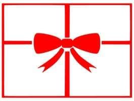 Boite cadeau - 50cm Hauteur - 50cm Largeur - noir vinyle