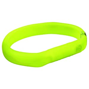 Trixie Safer Life Flash light band USB, Large/X-Large, 70 cm/18 mm, Green