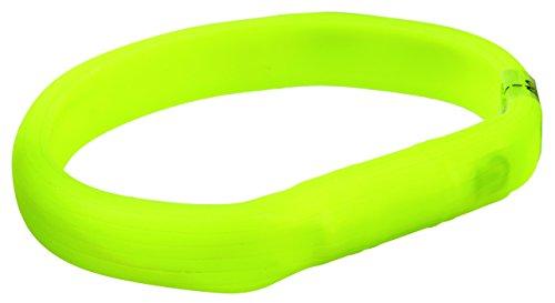 Trixie 12685 Banda con Luz Flash USB, L, Verde