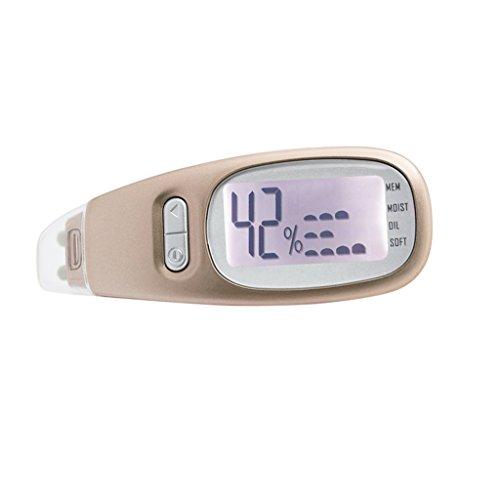 MagiDeal Skin- Care, Hautanalysegerät zur Messung von Feuchtigkeitsgehalt Ölgehalt und Weichheit - Gold