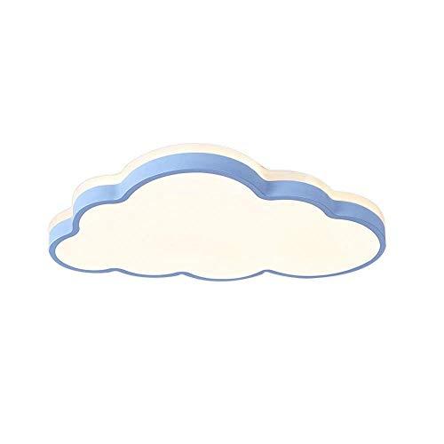 LED Ultradünn Deckenleuchte 2 Zoll Wolken Deckenlampe (Farbe : Blau, Stufenloses Dimmen)