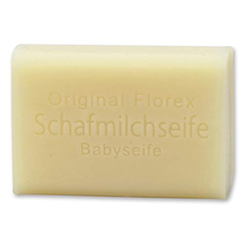 Florex Schafmilchseife Babyseife besonders mild hautverträglich aus pflanzlichen Inhaltsstoffen 100g Stück