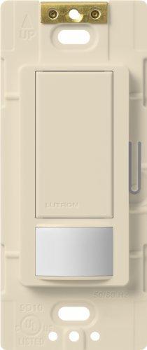 Lutron Maestro Motion Sensor switch, no neutral required, 600 Watts Single-Pole/Multi Location, MS-OPS5M-LA, Light Almond by Lutron - 600w Almond