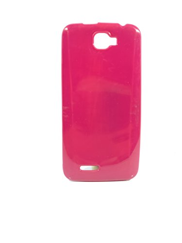 iCandy™ Colorfull Thin Soft TPU Back Cover For Micromax Canvas Mad A94 - Raspberry  available at amazon for Rs.109