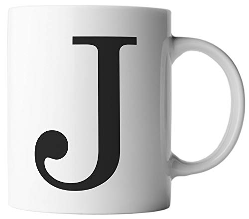 ghostee Tasse - Buchstabe J - Alphabet als Kaffeetasse ABC Buchstaben