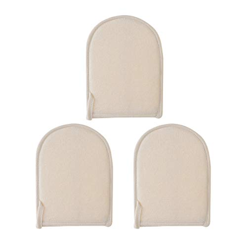 Healifty Dusche Handschuhe Luffa Handschuhe Bad Peeling Wäscher 3tlg