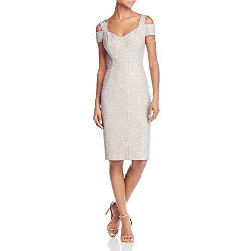 Eliza J Womens Cold Shoulder Knee-Length Cocktail Dress