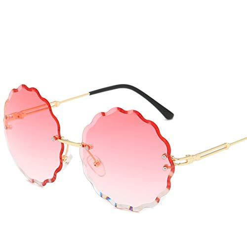 Lieyliso Blume geformt Bonbonfarbenen Sonnenbrillen für Männer Frauen Glas für Shopping-Party (Color : E)