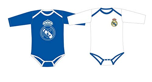 Pack 2 Bodys REAL MADRID Bebé Manga Larga (12 MESES)