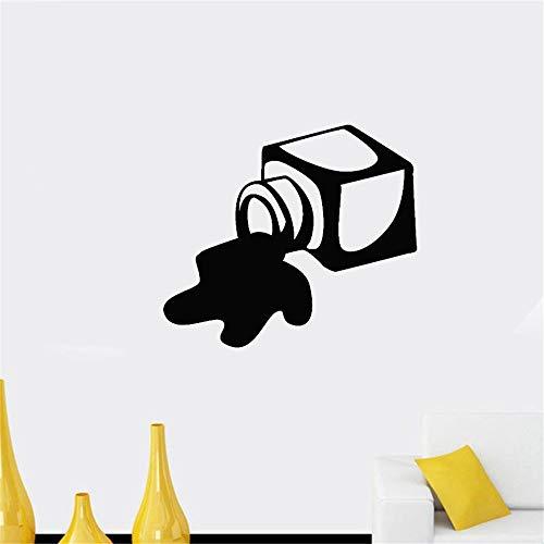 Wandaufkleber Schlafzimmer Tintenfass Tintenpfütze aus verschüttetem weißem Papier Dekor für die Bibliothek
