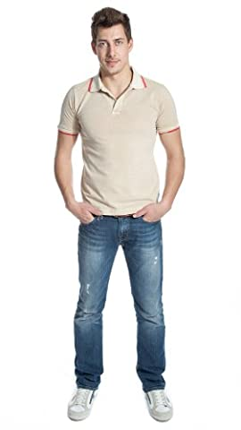 Alpha by Massimo Rebecchi Men Polo Shirt 10041378 Beige, size:48