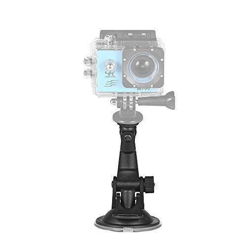 Action Camera Accessori Supporto per Ventosa per Auto + Adattatore per treppiede per GoPro Hero 7/6/5/4 SJCAM/YI