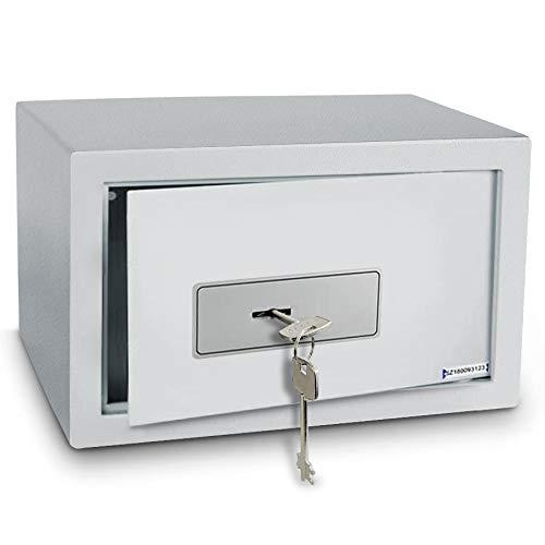 casa pura Tresor mit Schlüsselschloss Defender • Dokumentensafe Geldsafe • Wandsafe Einbausafe inkl. Montagematerial • Mit Ersatzschlüssel + Teppicheinlage • 3 Größen (16 Liter, 25x35x25 cm)
