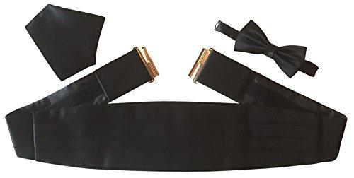 Gentleline Kummerbund-Set XL, schwarz, Mikrofaser/Satin