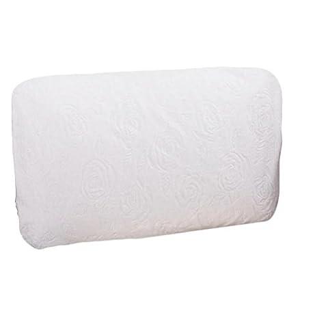 Coussin d'oreillers en latex naturel et pur. Coussin confortable, conçu pour la colonne cervicale, comprend un manteau et une manche intérieure , rose white