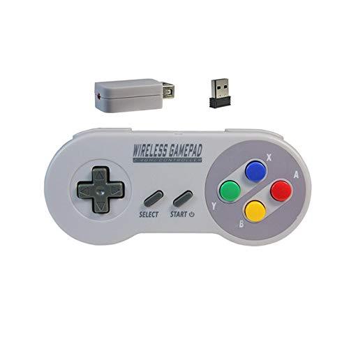 STHfficial Drahtlose Gamepads 2 4 GHz Joypad Joystick-Controller Für SNES Super Nintendo Classic Mini-Konsole Remote-Zubehör,A