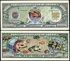 Tropical Frog Million Dollar Bill  With Bill Protector by American Art Classics