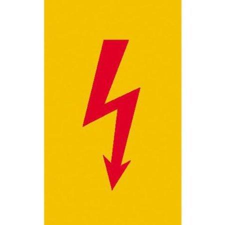 Preisvergleich Produktbild Spannungszeichen (Roter Blitz) Warnschild, selbstkl. Folie , Größe 7,40x14,80cm