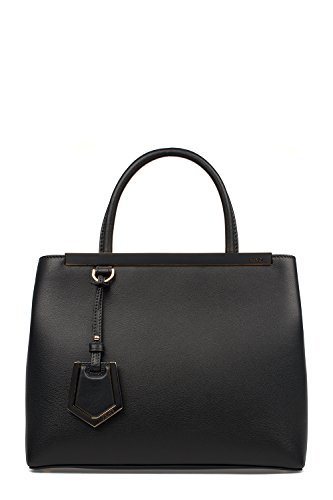 Fendi-Womens-8BH2533WLF06M1-Black-Leather-Handbag