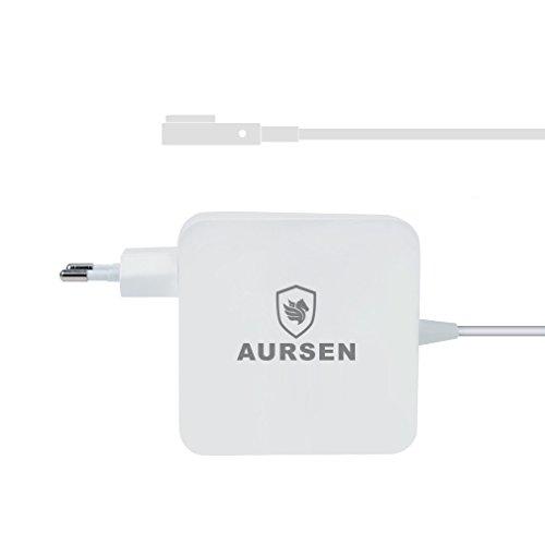 Aursen 60W MagSafe Power Adapter Netzteil für Apple MacBook mit MagSafe-Netzteile in L-Form Kompatibel mit Modell A1344/A1330/A1342/A1278/A1185/A1184/A1181 (Mac Netzkabel A1184)